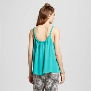 Mossimo Supply Co. Tops - Women's Green Braided Strap Woven Cami Tank Top